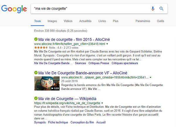 Utiliser la phrase exacte pour faire des recherches sur Google