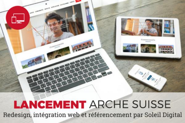 lancement site internet Arche Suisse
