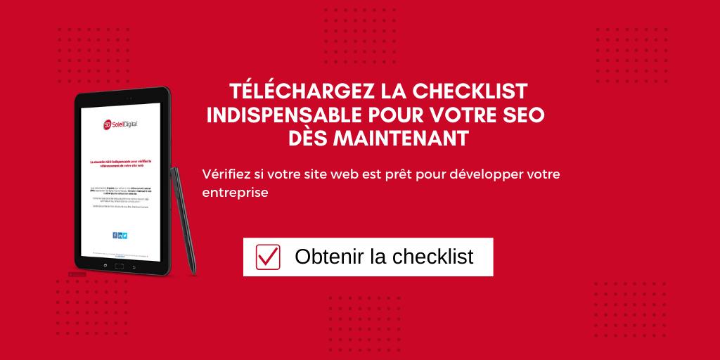 checklist seo site web