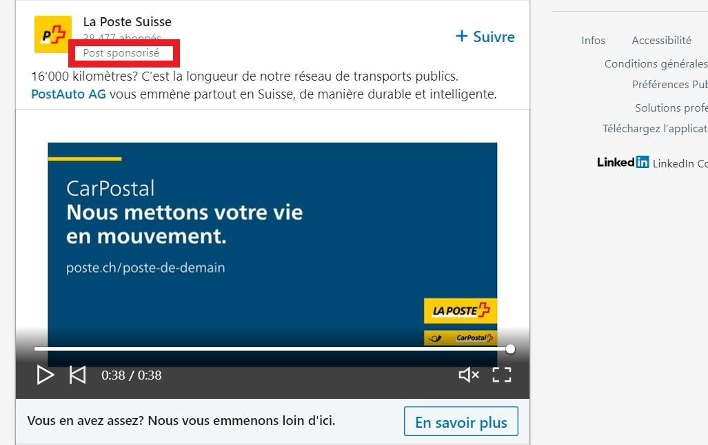 sponsored content linkedin Ads