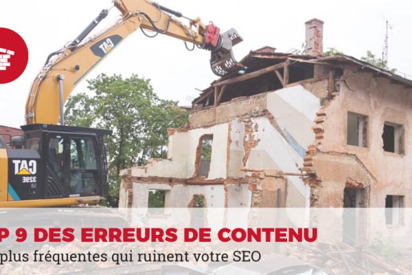 erreurs SEO site web