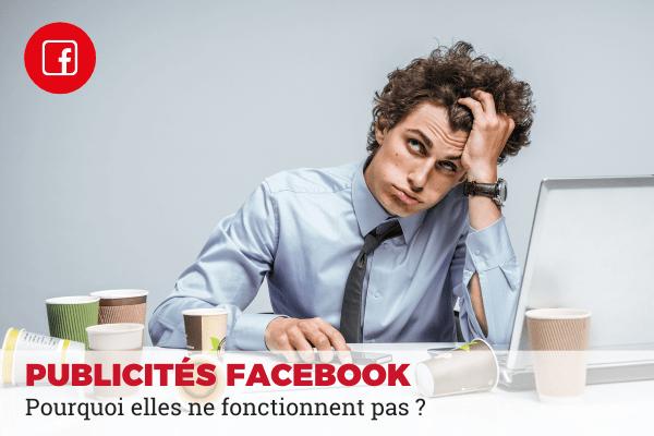 publicité facebook active mais non diffusée